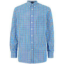 Buy Hackett London Two Colour Gingham Shirt, Green/Blue Online at johnlewis.com