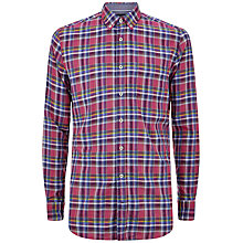 Buy Hackett London Bright Check Shirt, Pink Online at johnlewis.com