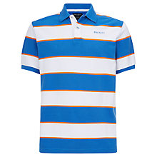Buy Hackett London Bold Stripe Polo Shirt, Aqua Online at johnlewis.com
