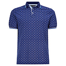 Buy Hackett London Daisy Print Polo Shirt, Navy Online at johnlewis.com