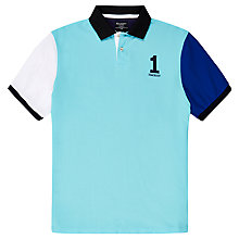 Buy Hackett London Colour Block Polo Shirt, Blue Multi Online at johnlewis.com