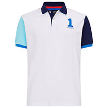 Buy Hackett London Block Colour Polo Shirt, White/Multi Online at johnlewis.com