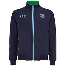 Buy Hackett London Aston Martin Racing Zip-Up Sports Sweat Top, Navy Online at johnlewis.com