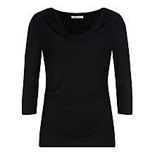 Buy Kaliko Cowl Neck Top, Black Online at johnlewis.com