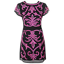Buy True Decadence Baroque Sequin Bodycon Dress, Black/Pink Online at johnlewis.com