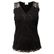 Buy East Lace Bubble Blouse, Black Online at johnlewis.com