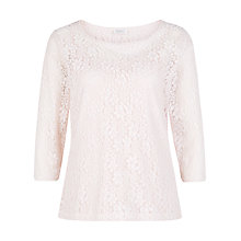 Buy Kaliko Stripe Lace Top, Neutral Online at johnlewis.com