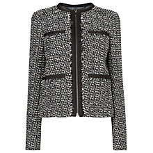 Buy L.K. Bennett Malden Tweed Jacket, Black/White Online at johnlewis.com