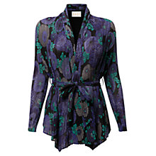Buy East Nobu Print Bubble Cardigan, Pewter Online at johnlewis.com