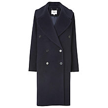 Buy L.K. Bennett Jules Double Breasted Coat, Navy Online at johnlewis.com