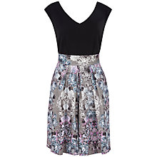 Buy Almari Contrast V-Neck Dress, Multi Online at johnlewis.com