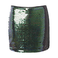 Buy True Decadence Sequin Skirt, Green Sequin Online at johnlewis.com