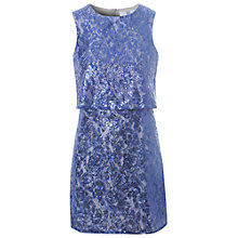 Buy True Decadence Layered Sequin Dress, Blue Online at johnlewis.com