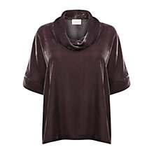 Buy East Nobu Bardot Neck Top, Pewter Online at johnlewis.com