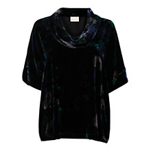 Buy East Nobu Bardot Neck Top, Black Online at johnlewis.com