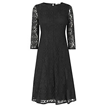 Buy Oasis Baroque Lace Midi Dress, Mid Grey Online at johnlewis.com