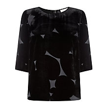 Buy Havren Spot Embroidered Tulle Blouse, Black Online at johnlewis.com