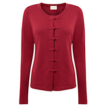 Buy East Button Detail Cardigan, Scarlet Online at johnlewis.com