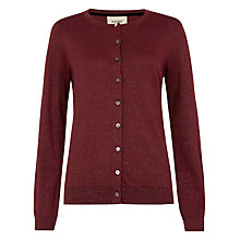 Buy Havren Lurex Cardigan, Merlot Online at johnlewis.com