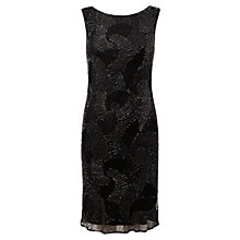Buy East Deco Wave Beaded Dress, Black Online at johnlewis.com