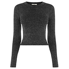 Buy Oasis Sparkle Crop Top, Black Online at johnlewis.com