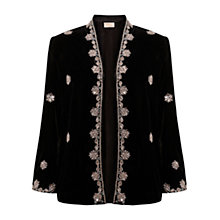 Buy East Zardozi Embroidered Jacket, Black Online at johnlewis.com