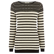 Buy Oasis Stripe Sparkle Top, Light Neutral Online at johnlewis.com