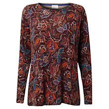 Buy East Leila Floral Jumper, Espresso Online at johnlewis.com