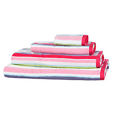 Buy little home at John Lewis Harrison Stripe Towels, Pink/Purple Online at johnlewis.com