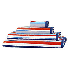 Buy little home at John Lewis Harrison Stripe Towels, Red/Blue Online at johnlewis.com
