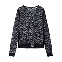 Buy Gerard Darel Knitted Zip Cardigan, Black Online at johnlewis.com