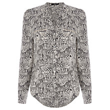 Buy Oasis Crowded Zebra Print Shirt, Multi Natural Online at johnlewis.com