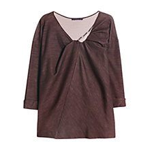 Buy Violeta by Mango Knot Jumper, Dark Red Online at johnlewis.com