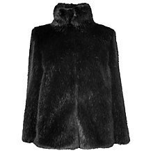Buy Phase Eight Fran Faux Fur Coat, Black Online at johnlewis.com