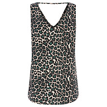 Buy Oasis V Front V Back Animal Top, Multi Online at johnlewis.com