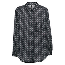 Buy Mango Printed Shirt, Navy Online at johnlewis.com