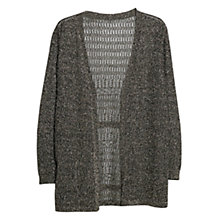 Buy Violeta by Mango Metal Thread Cardigan, Black Online at johnlewis.com