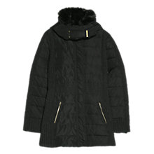 Buy Mango Feather Down Hooded Coat, Black Online at johnlewis.com