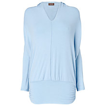 Buy Phase Eight Gwyneth V-Neck Dana Top, Pale Blue Online at johnlewis.com