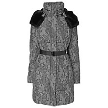 Buy Phase Eight Lace Print Freya Coat, Black/Grey Online at johnlewis.com