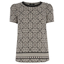 Buy Oasis Folk Tile T-Shirt, Multi Online at johnlewis.com