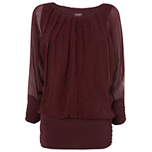 Buy Phase Eight Primrose Silk Gypsy Blouse, Wine Online at johnlewis.com