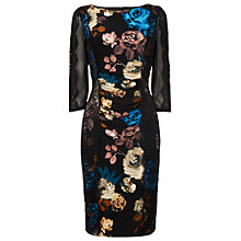 Buy Phase Eight Hampton Flower Dress, Black Online at johnlewis.com