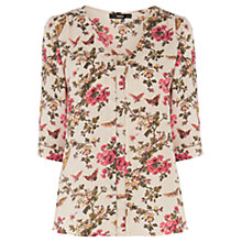 Buy Oasis Butterfly Blossom Nicky Top, Multi Online at johnlewis.com