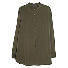Buy Violeta by Mango Flowy Blouse, Khaki Online at johnlewis.com