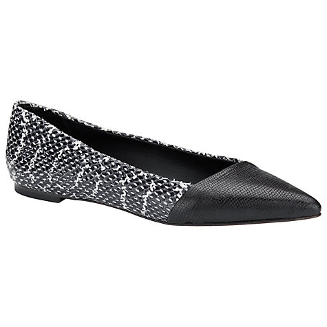 Buy COLLECTION by John Lewis Pavia Leather Pumps, Black/White Online at johnlewis.com