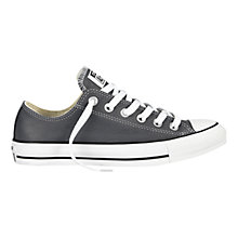 Buy Converse Chuck Taylor All Star Leather Ox Trainers, Admiral Grey Online at johnlewis.com