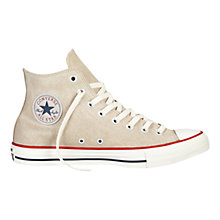 Buy Converse Chuck Taylor All Star Distressed Leather Trainers, Portrait Grey Online at johnlewis.com
