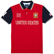 Buy Hackett London British Polo Day USA Team Polo Shirt, Red/White Online at johnlewis.com