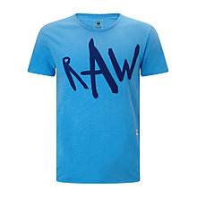 Buy Diesel Raw Cotton Short Sleeved T-Shirt, Ink Online at johnlewis.com